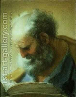 Head of an Apostle by Benedetto Luti - Reproduction Oil Painting