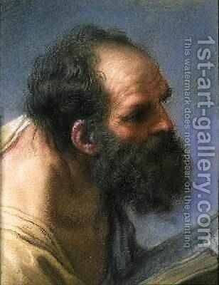 The Head of an Apostle by Benedetto Luti - Reproduction Oil Painting