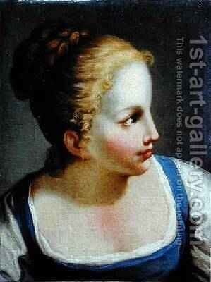 Head of a Young Girl by Benedetto Luti - Reproduction Oil Painting