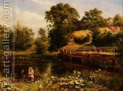 Fishing by the Bridge by Nevil Oliver Lupton - Reproduction Oil Painting