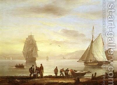 Seascape by Thomas Luny - Reproduction Oil Painting