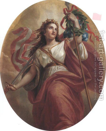 Liberty 1869 by Constantino Brumidi - Reproduction Oil Painting
