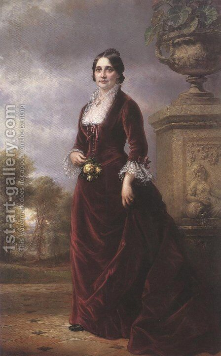 Lucy Webb Hayes 1881 by Daniel Huntington - Reproduction Oil Painting