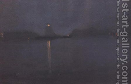 Nocturne 1870 77 by James Abbott McNeill Whistler - Reproduction Oil Painting