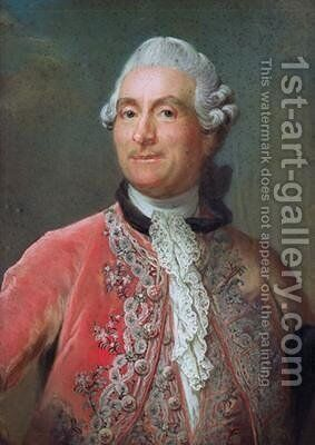 Charles Gravier 1719-87 Count of Vergennes 1771-74 by Gustav Lundberg - Reproduction Oil Painting