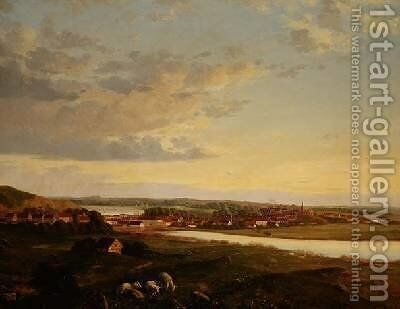Silkeborg in Jutland by Anker Niels Lund - Reproduction Oil Painting