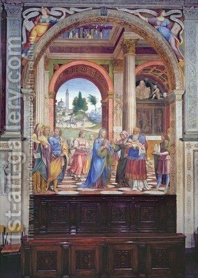 Presentation in the Temple 1525 by Bernardino Luini - Reproduction Oil Painting