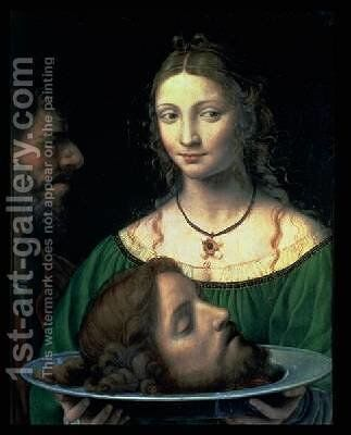 Salome with the Head of John the Baptist 1525-30 by Bernardino Luini - Reproduction Oil Painting