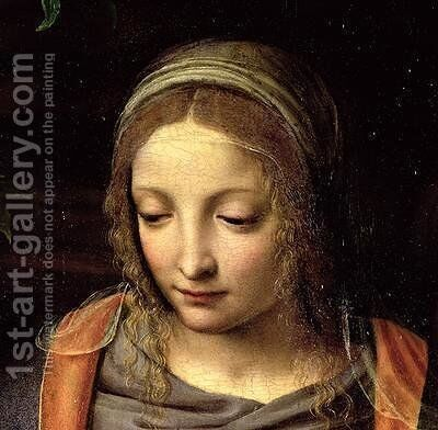 The Virgin and Child in a Landscape 2 by Bernardino Luini - Reproduction Oil Painting
