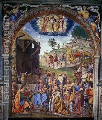 Adoration of the Magi 1525 by Bernardino Luini - Reproduction Oil Painting
