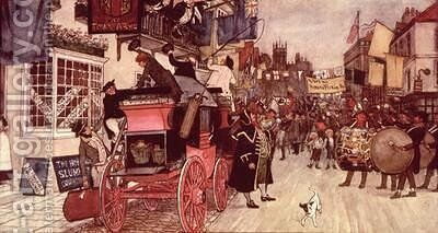 The Election Parade at Eatanswill by Albert Jnr. Ludovici - Reproduction Oil Painting