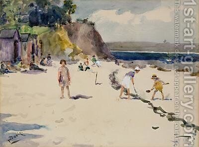 Begmeil Beach Brittany by Albert Jnr. Ludovici - Reproduction Oil Painting