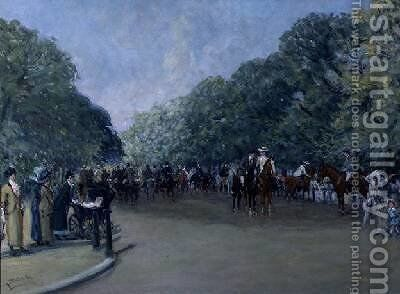 Rotten Row Hyde Park by Albert Jnr. Ludovici - Reproduction Oil Painting
