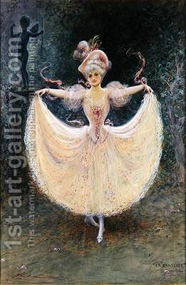 La Danseuse 1894 by Henry (Hal) Stephen Ludlow - Reproduction Oil Painting