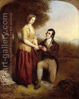 The Parting of Robert Burns and his Mary 1844 by Charles Lucy - Reproduction Oil Painting