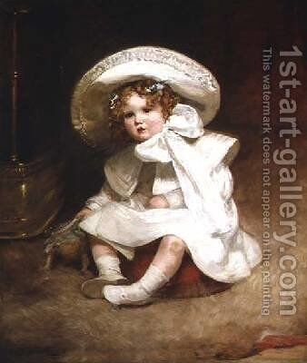 Portrait of Muriel Daughter of Sir Charles Swinfen Eady by Marie Elizabeth Seymour Lucas - Reproduction Oil Painting