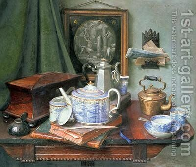 Teatime by Edward George Handel Lucas - Reproduction Oil Painting