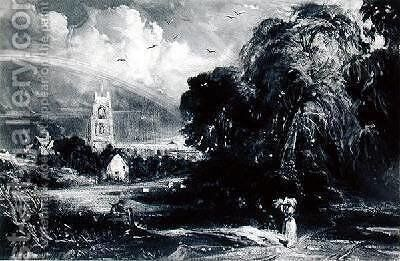 Stoke-by-Nayland after Constable by David Lucas - Reproduction Oil Painting