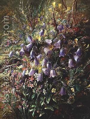 Harebells and other Woodland Flowers and Grasses by Albert Durer Lucas - Reproduction Oil Painting