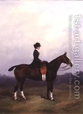 Lady Riding Side-saddle by Henry Frederick Lucas-Lucas - Reproduction Oil Painting