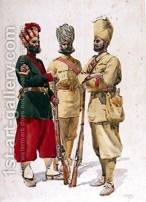 Soldiers of the 43rd Erinpura Regiment by Alfred Crowdy Lovett - Reproduction Oil Painting
