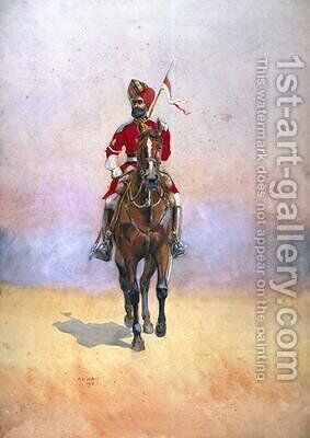 Governors Bodyguard Bomba Musalman Rajput by Alfred Crowdy Lovett - Reproduction Oil Painting