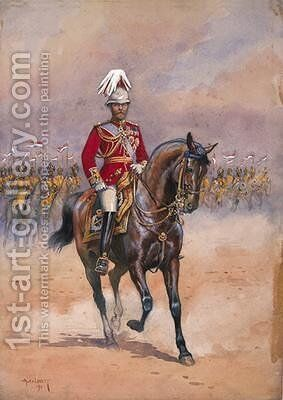 His Majesty the King Emperor 1910 by Alfred Crowdy Lovett - Reproduction Oil Painting