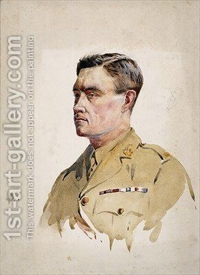 Major A Martin-Leake VC 1902 by Alfred Crowdy Lovett - Reproduction Oil Painting
