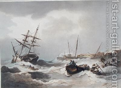 Storm off Margate by (after) Loutherbourg, Philippe de - Reproduction Oil Painting