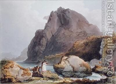 Llyn Ogween by (after) Loutherbourg, Philippe de - Reproduction Oil Painting