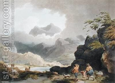 Snowdon by (after) Loutherbourg, Philippe de - Reproduction Oil Painting