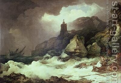 The Shipwreck 1793 by Philip Jacques de Loutherbourg - Reproduction Oil Painting