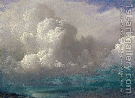Storm Clouds 1880 by Albert Bierstadt - Reproduction Oil Painting