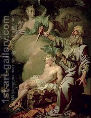 The Sacrifice of Isaac 1765 by Anton Losenko - Reproduction Oil Painting