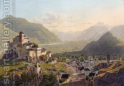 View of Sion by Mathias Gabriel Lory - Reproduction Oil Painting