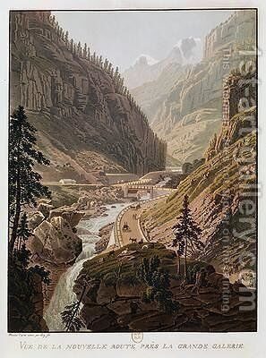 View of the New Simplon Pass 1811 by Mathias Gabriel Lory - Reproduction Oil Painting