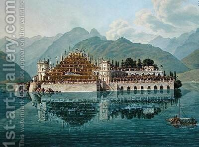 Isola Bella Lake Maggiore the terraced gardens from Le Simplon Voyage Pittoresque de Geneve a Milan by Mathias Gabriel Lory - Reproduction Oil Painting