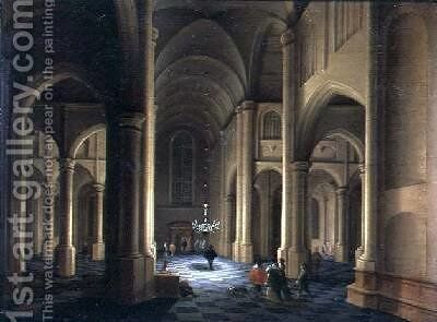 A Church Interior by Anthonie De Lorme - Reproduction Oil Painting