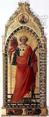 St Lawrence by Bicci Di Lorenzo - Reproduction Oil Painting