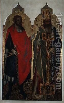 St Julian and St Zenobius by Bicci Di Lorenzo - Reproduction Oil Painting