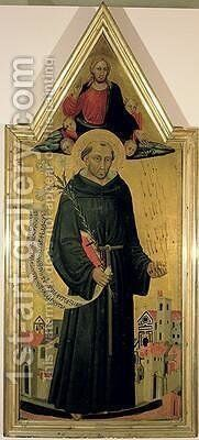 St Nicholas of Tolentino by Bicci Di Lorenzo - Reproduction Oil Painting
