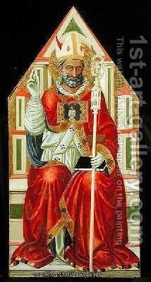 St Blaise d 316 1445 by Bicci Di Lorenzo - Reproduction Oil Painting