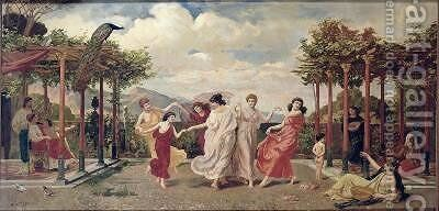 Classical Idyll by A. Lorenzo - Reproduction Oil Painting