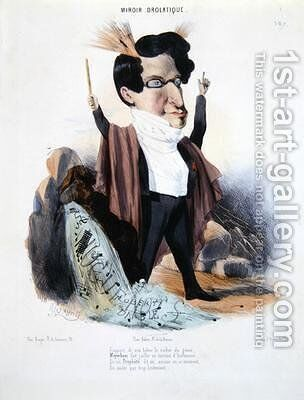 Caricature of Jakob Meyerbeer by Alcide Joseph Lorentz - Reproduction Oil Painting