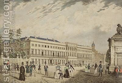 View of the Royal Palace Brussels 1830 by Basile De Loose - Reproduction Oil Painting