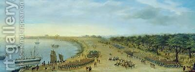 The Arrival of the Allied Army at Itapiru Paraguay 1866 by Candido Lopez - Reproduction Oil Painting