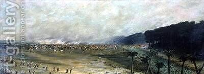 Itapiru and Paso de Patria Paraguay 1866 by Candido Lopez - Reproduction Oil Painting