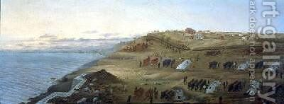 Argentine Camp at Uruguaiana Rio Grande Brazil 1865 by Candido Lopez - Reproduction Oil Painting