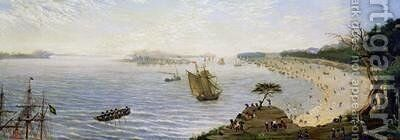 Surprise at the Front Line of the Army at Estero Argentina 1866 by Candido Lopez - Reproduction Oil Painting