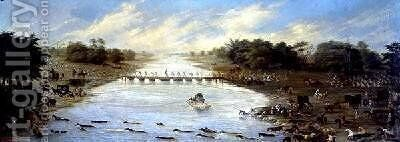 Crossing the Riachuelo River Buenos Aires Argentina 1865 by Candido Lopez - Reproduction Oil Painting